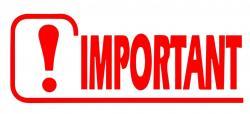 Tampon important logo